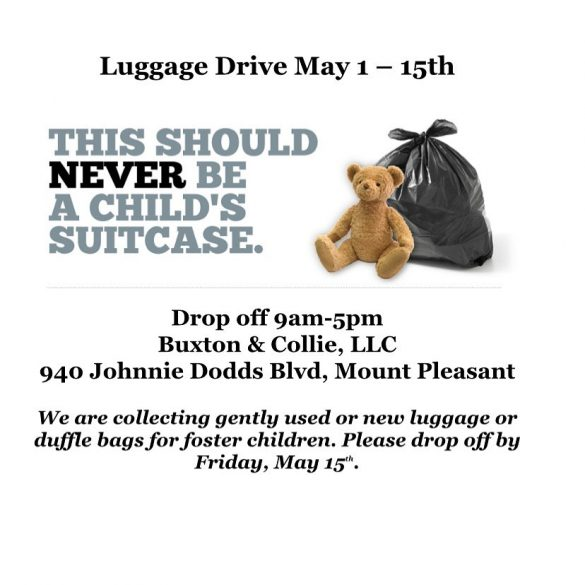 Foster Care Awareness Month Luggage Drive