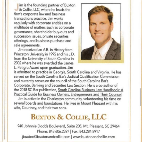 Jim Buxton Recognized by The American Lawyer and The National Law Journal